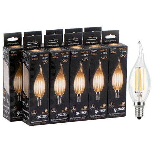 Упаковка светодиодных ламп 10 шт gauss 104801107, E14, 7Вт упаковка светодиодных ламп 10 шт gauss 103101107 s e14 c38 7вт