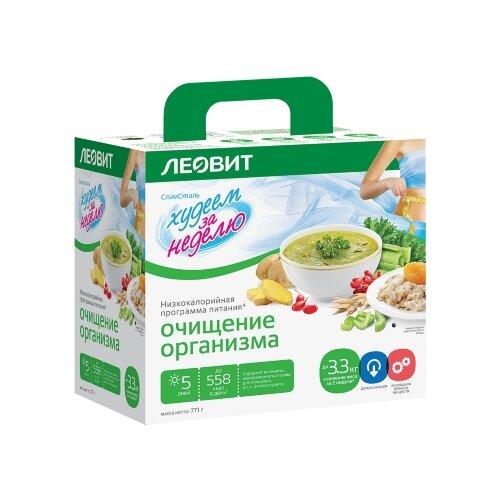 ЛЕОВИТ Худеем за неделю Программа питания Очищение организма, 771 г чай лимонник для тонуса 25 пакетов по 2 г упаковка 50 г худеем за неделю леовит