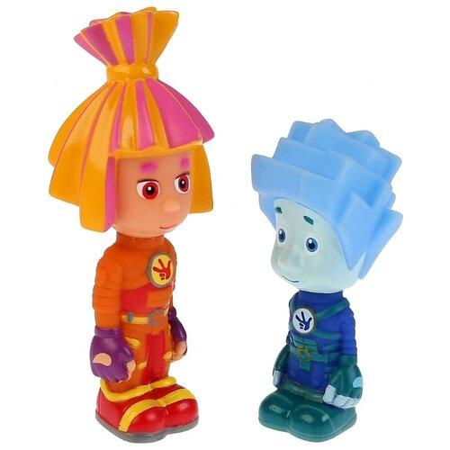 Купить Набор для ванной Играем вместе Симка и Нолик (LXSTB56-57-FIX) синий/оранжевый, Игрушки для ванной