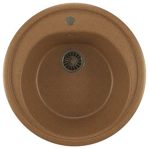 Врезная кухонная мойка 50.5 см Mixline ML-GM11 525073 терракотовая 307Кухонные мойки<br>