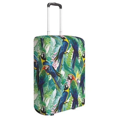 Чехол для чемодана JoyArty Остановка попугаев M, Желтый, Зеленый, СинийЧемоданы<br>