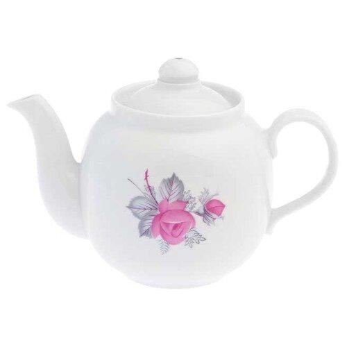 Дулёвский фарфор Заварочный чайник Рубин 700 мл Дикая роза