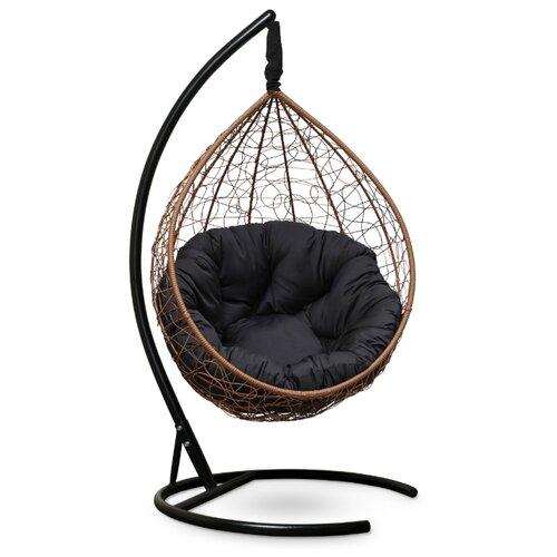 Подвесное кресло-кокон Laura Outdoor Sevilla Verde, горячий шоколад/черный