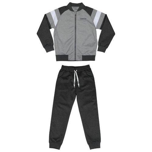 Купить Спортивный костюм Luminoso размер 140, темно-серый меланж/светло-серый меланж, Спортивные костюмы