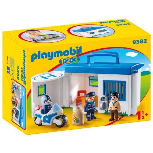Набор с элементами конструктора Playmobil 1-2-3 9382 Возьми с собой: Полицейский участок набор с элементами конструктора playmobil city life 9078 шопинг торговый центр