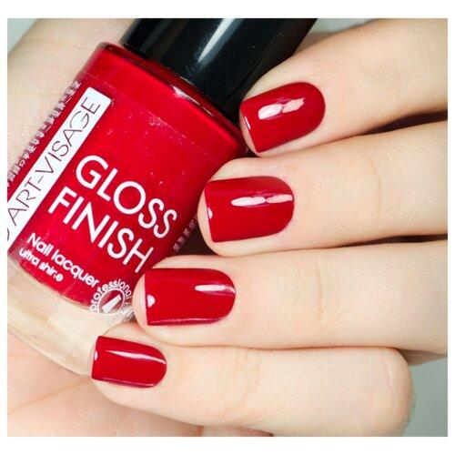 Лак ART-VISAGE Gloss Finish Nail Lacquer 8.5 мл. 118 мэрилин монроЛак для ногтей<br>