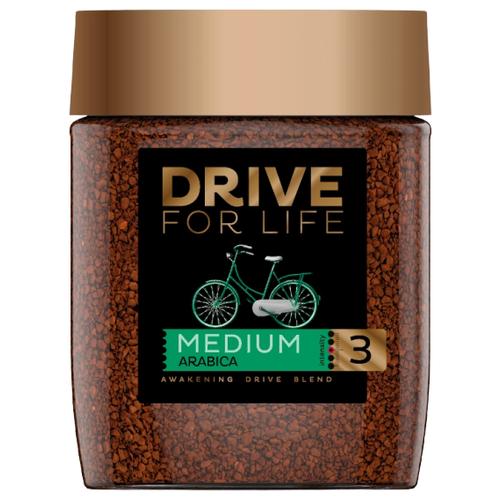 Кофе растворимый DRIVE for LIFE Medium, стеклянная банка, 100 г банка для кофе easy life время кофе 13 8 21 см