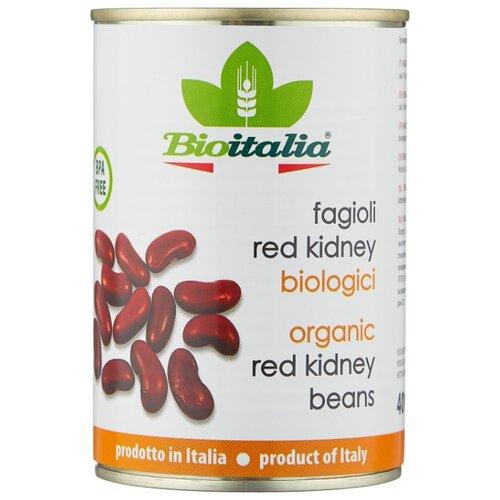 Фасоль Bioitalia красная, жестяная банка 400 г компот похудин банка 400 г