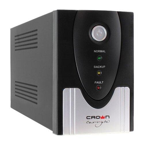 Интерактивный ИБП CROWN MICRO CMU-SP650 IEC USB черный/серебристый ибп crown cmu sp650 iec lcd usb 650va