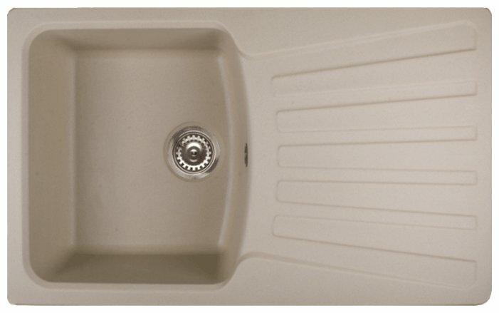 Врезная кухонная мойка Granula 8001 80х50см искусственный гранит