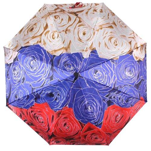 Зонт автомат FLIORAJ Гордость Империи Розы белый/синий/красный