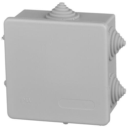 Распределительная коробка IEK KM41235 наружный монтаж 85x85 мм серый RAL 7035