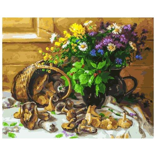 Белоснежка Картина по номерам 40*50 см Букет и грибы 40х50 см (226-AB)