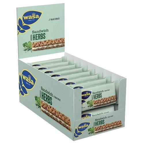 Хлебцы ржаные Wasa Sandwich Cheese & Herbs 30 г 24 шт