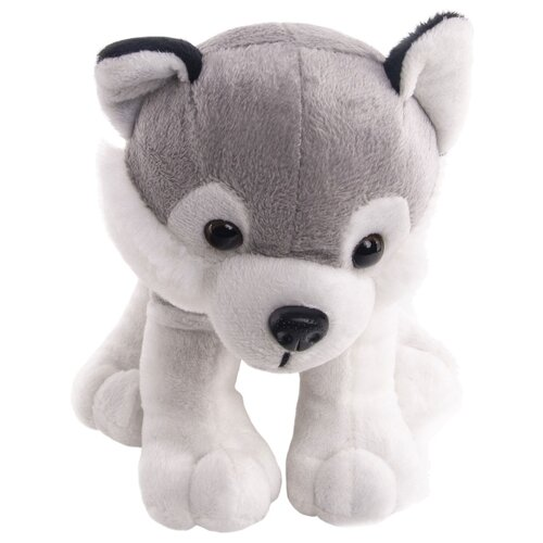 Мягкая игрушка Button Blue Собака хаски Грей 17 см