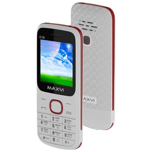 Фото - Телефон MAXVI C15 белый / красный телефон maxvi x650 красный
