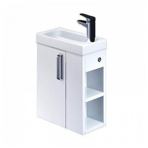 Тумба для ванной комнаты с раковиной IDDIS Torr, полки справа, ШхГхВ: 40х22х60 см, цвет: белый тумба для ванной комнаты с раковиной iddis cloud шхгхв 100 3х45 5х50 см цвет белый