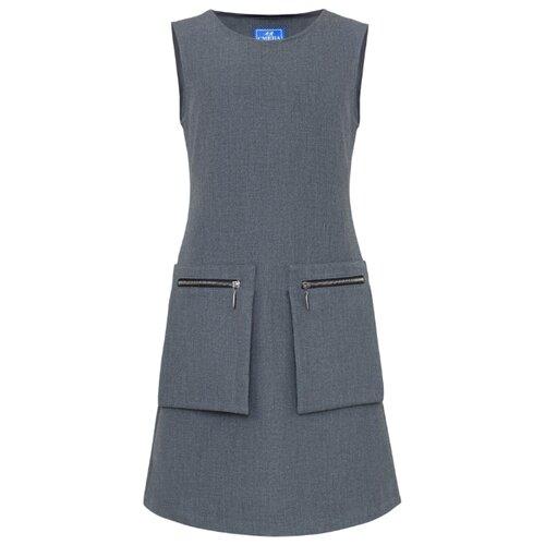 Купить Сарафан Смена размер 128/64, серый, Платья и сарафаны