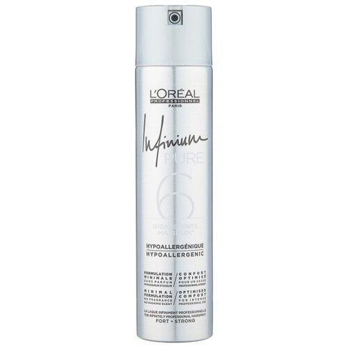 L'Oreal Professionnel Лак для волос Infinium pure Strong, экстрасильная фиксация, 300 мл