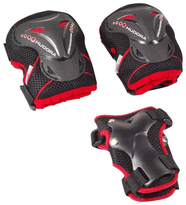 Защита роликовая Hudora Grant размер L черно-красный