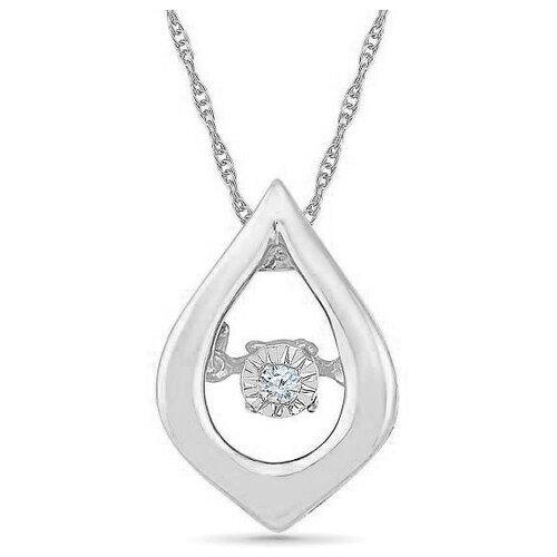 ЛУКАС Подвеска с 1 бриллиантом из белого золота P01-D-PS022982