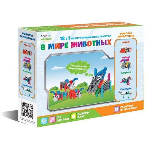 Купить Винтовой конструктор ND Play Трансформер 284389 В мире животных 12 в 1, Конструкторы
