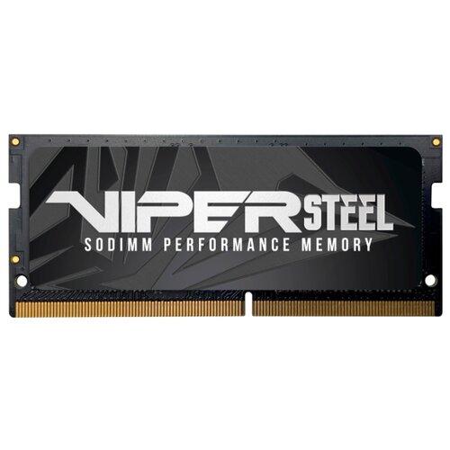 Оперативная память Patriot Memory VIPER STEEL DDR4 2400 (PC 19200) SODIMM 260 pin, 16 GB 1 шт. 1.2 В, CL 15, PVS416G240C5S оперативная память patriot memory viper elite ddr4 2400 pc 19200 dimm 288 pin 16 gb 1 шт 1 2 в cl 16 pve416g240c6gy