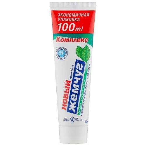 Зубная паста Новый Жемчуг Комплекс Легкий аромат мяты, 100 мл