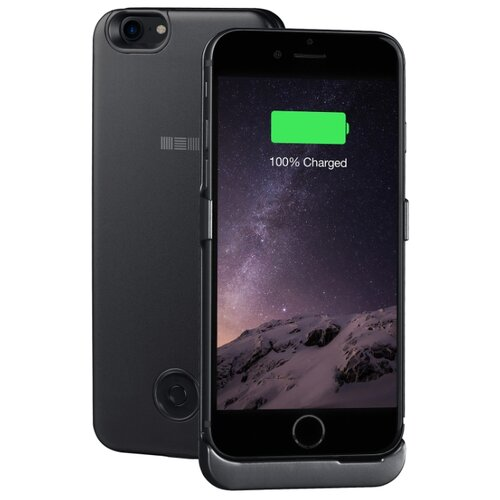 Чехол-аккумулятор INTERSTEP Metal battery case для iPhone 7/8 black чехол для сотового телефона interstep armore для nokia 3 black harno00003knp1101ok100