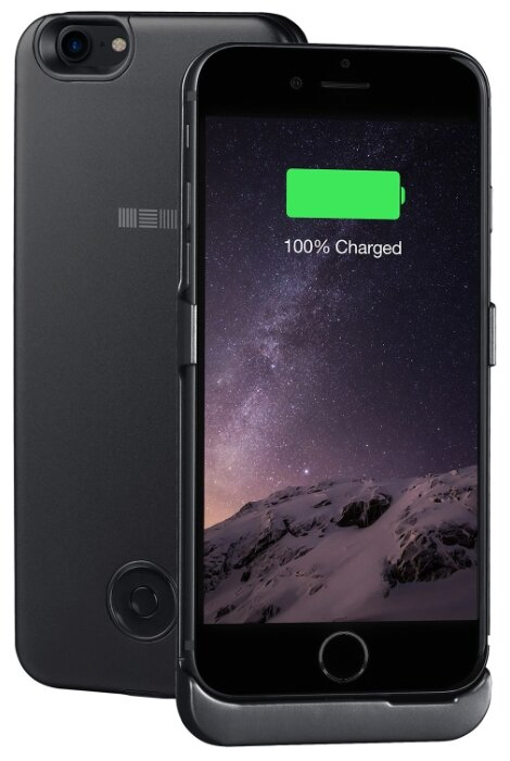 Чехол-аккумулятор INTERSTEP Metal battery case для iPhone 7/8 silver