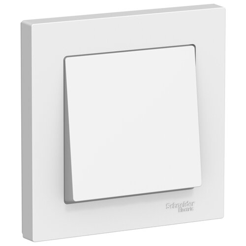 Выключатель 1-полюсный Schneider Electric ATN000112 AtlasDesign, 10 А, белый выключатель 1 полюсный schneider electric atn000211 atlasdesign 10 а бежевый