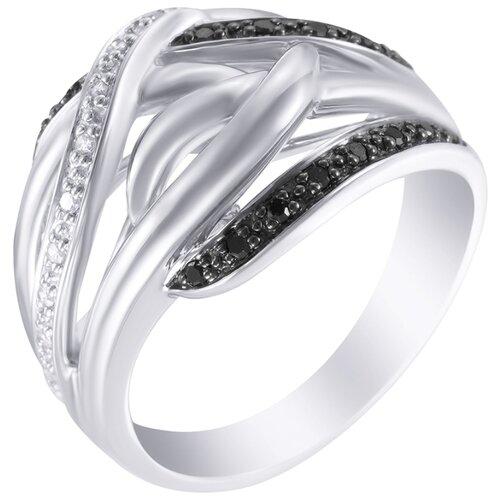 цена на JV Кольцо с бриллиантами из белого золота R24147-DB-WG, размер 18.5
