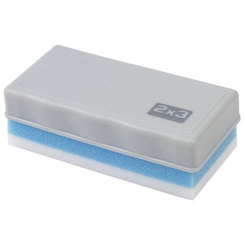 Губка для стирания 2x3 AS115 белый/голубой