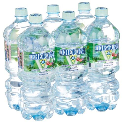 Вода минеральная Сенежская негазированная, ПЭТ, 6 шт. по 1 л
