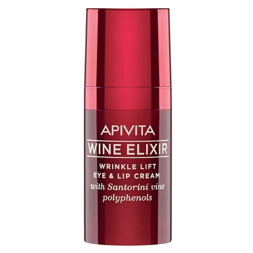 Apivita Крем-лифтинг для кожи вокруг глаз и губ Wine Elixir Wrinkle Lift Eye & Lip Cream, 15 мл