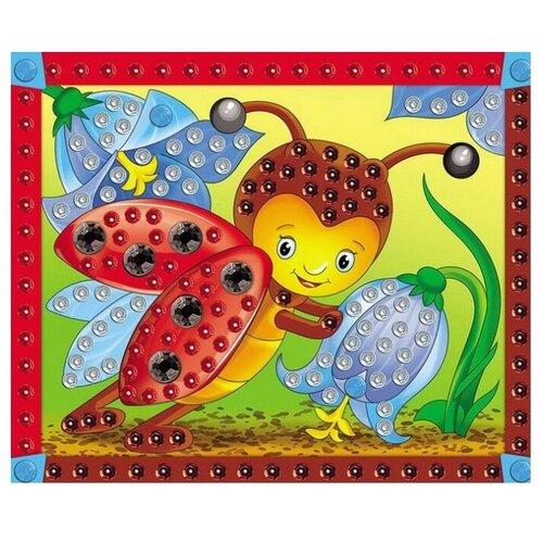 Купить Рыжий кот Аппликация из пайеток Божья коровка М-4357, Картины из пайеток