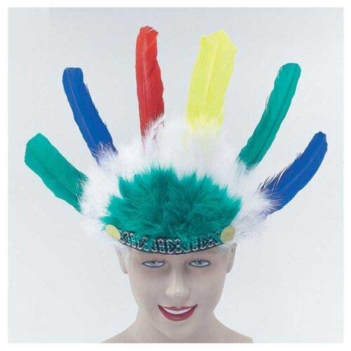 Купить Головной убор Bristol Novelty Индеец, разноцветный, Карнавальные костюмы
