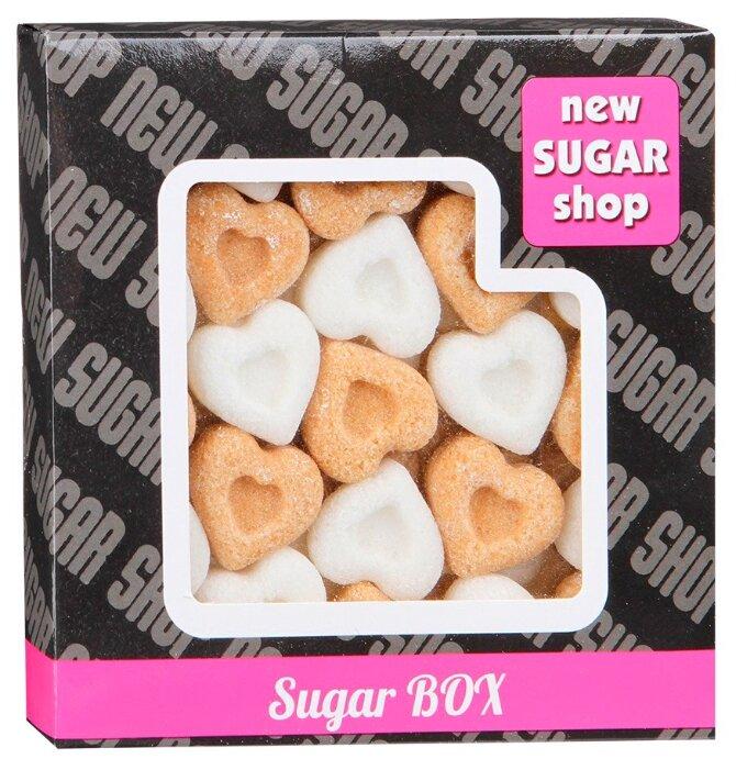 New SUGAR shop фигурный Sugar BOX Сердечки сахарные тростниковые и белые