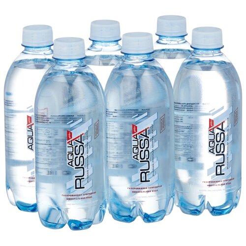 Минеральная вода Aqua Russa газированная, ПЭТ, 6 шт. по 0.5 л cucina russa