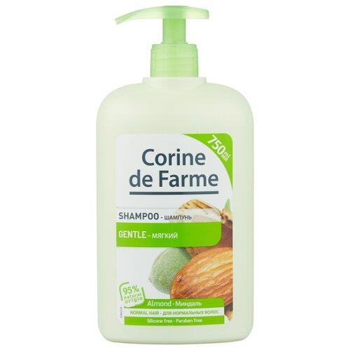 CORINE de FARME Shampoo Gentle Almond шампунь Мягкий с Миндалем для нормальных волос 750 мл с дозатором шампунь corine de farme купить