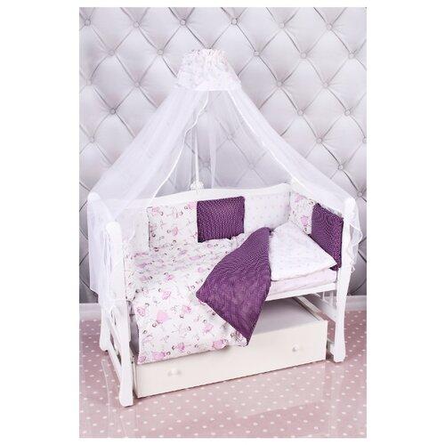 Amarobaby комплект в кроватку Premium Амели (7 предметов) вишня/белый комплект в кроватку amarobaby wb premium 18 предметов 6 12 бортиков фламинго попл малин сер