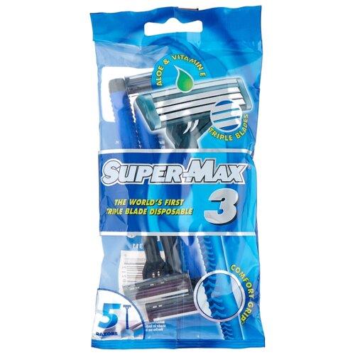 цена на Бритвенный станок Super Max 3, одноразовый, 5 шт.