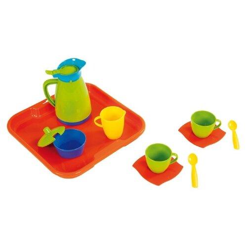 Набор посуды Полесье Алиса с подносом на 2 персоны 40572 полесье набор игрушечной посуды алиса на 4 персоны 58980 цвет в ассортименте