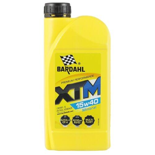 Минеральное моторное масло Bardahl XTM 15W40 1 л минеральное моторное масло srs multi rekord top 15w40 1 л