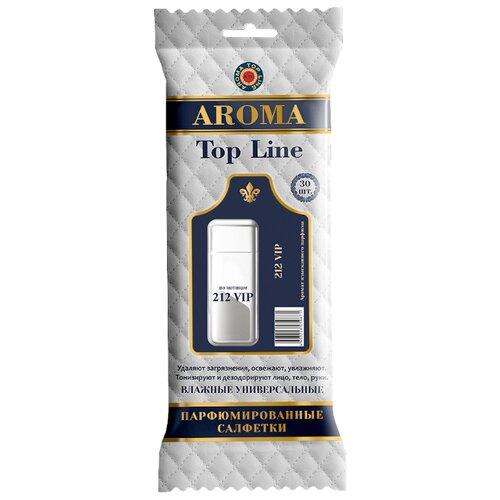 Фото - Влажные салфетки AROMA TOP LINE универсальные парфюмированные 212 VIP, 30 шт. top gear влажные салфетки для