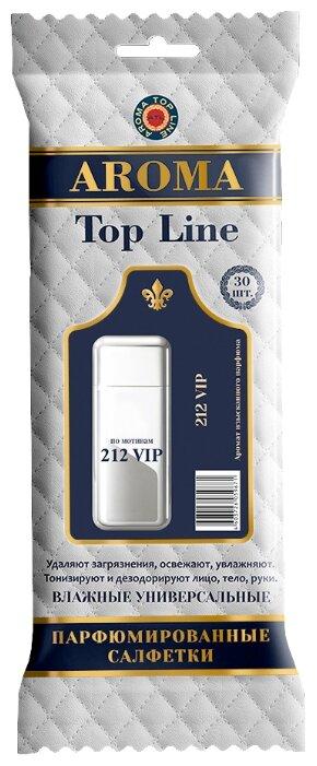 Aroma Top Line влажные универсальные парфюмированные салфетки 212VIP 30шт