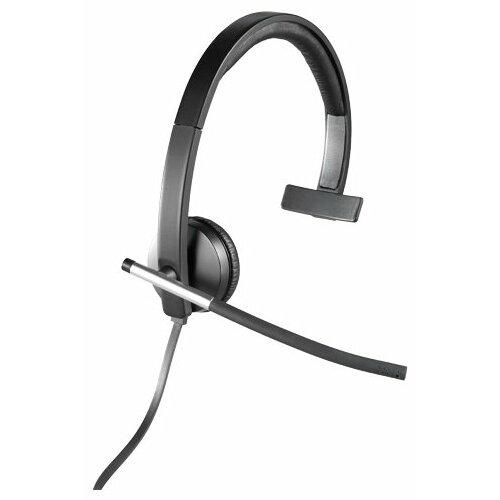 Компьютерная гарнитура Logitech USB Headset Mono H650e черный/серый гарнитура