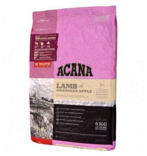 Корм для собак Acana Singles ягненок с яблоком 6 кг