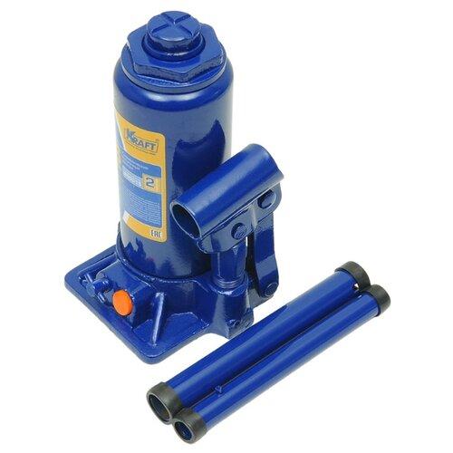 Домкрат бутылочный гидравлический KRAFT КТ 800015 (6 т) синий