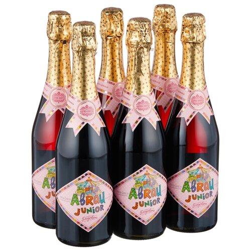 Газированный напиток Абрау-Дюрсо Abrau Junior Розовое, 0.75 л, 6 шт.